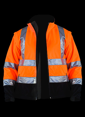 ASCONA - Safety jacket made of SOFTSHELL material with movable sleeves.