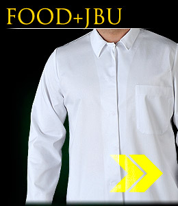 FOOD+JBU - Protective blouse with long sleeves, buttoned.