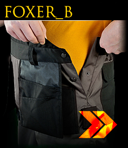 FOXER_B - Protective dungaree trousers.