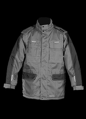MAUER -  Insulated jacket with hood hidden in collar.