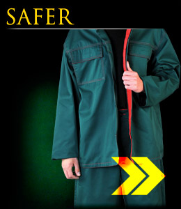 SAFER - Protective clothing for welders with electrostatic properties.