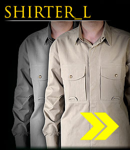 SHIRTER_L - Long-sleeved cotton shirt